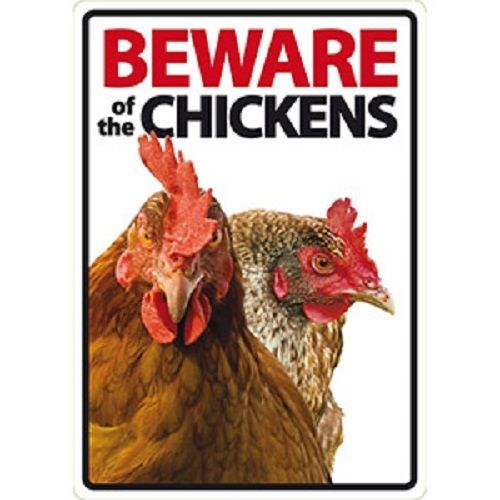 Novelty: Beware of the Chickens Internal/External Sign