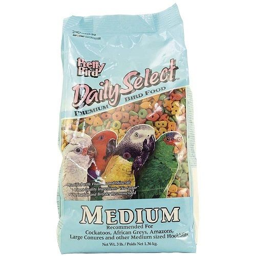 Pretty Bird Daily Select Medium - Premium Complete Parrot Food 3lb (1.36kg)