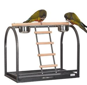 Liberta Merlon Parrot Table Top Play Stand for Small & Medium Birds