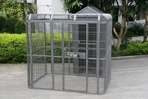 Rainforest Parrot Large Metal Aviary & House