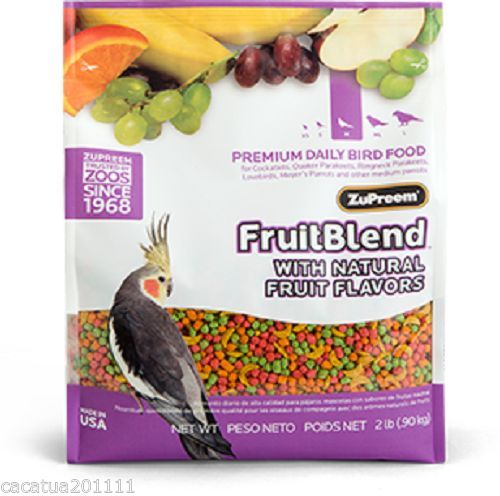 ZuPreem FruitBlend Complete Food for Cockatiels, Parakeets 0.90kg (2lb)