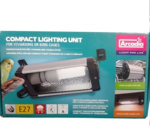 Arcadia Compact Uv Deluxe Lamp Holder For Bird Cages The